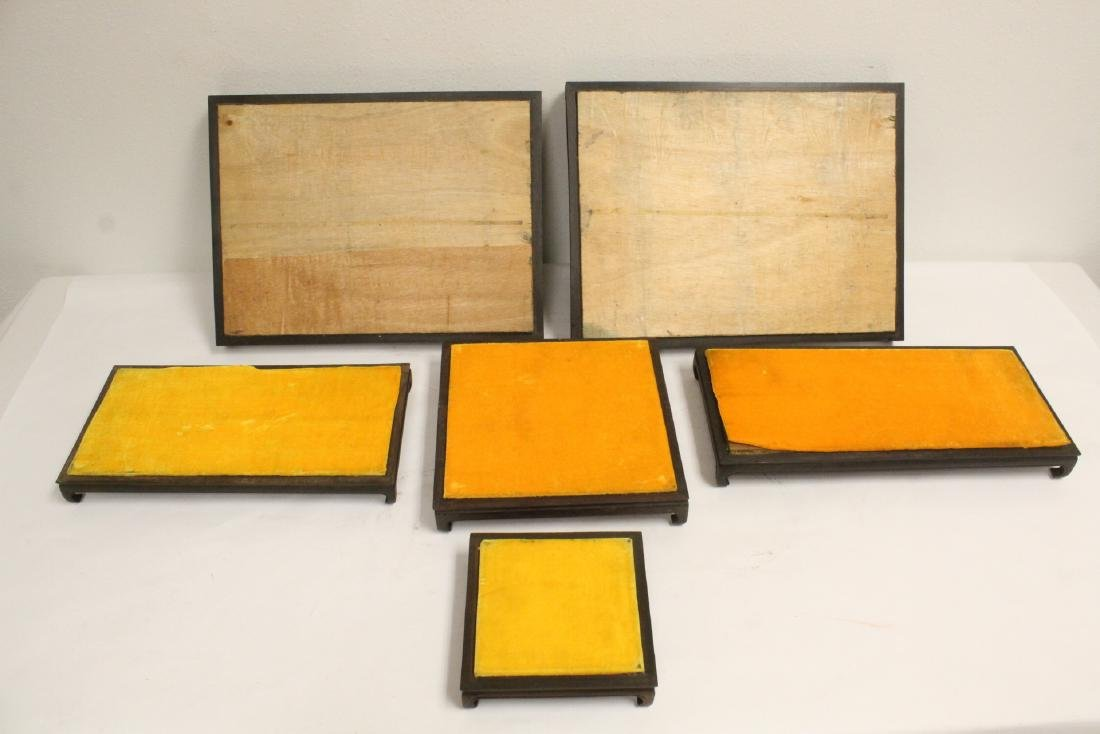 6 zitan wood frame bases