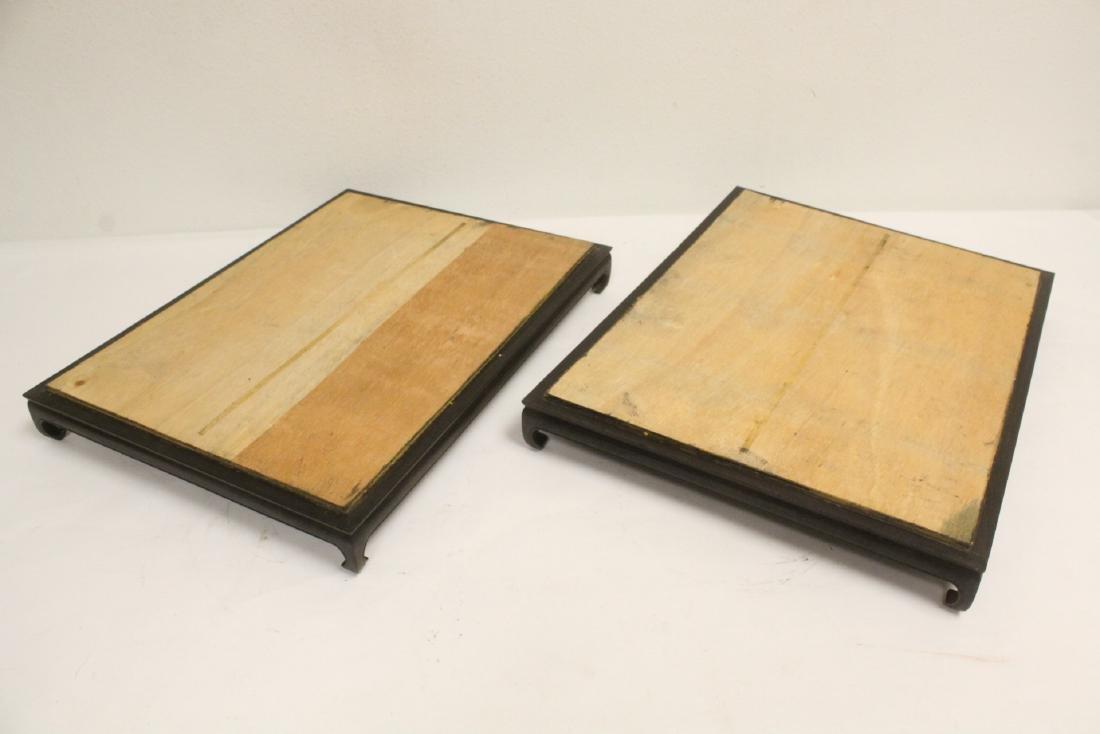 6 zitan wood frame bases - 3