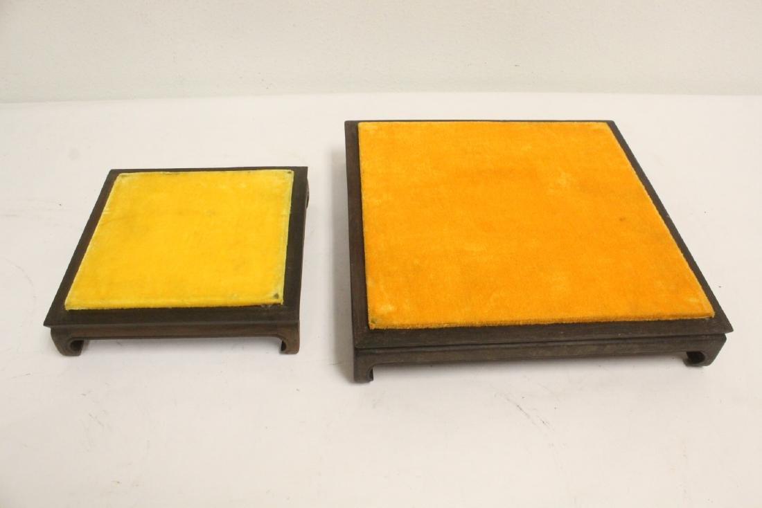 6 zitan wood frame bases - 5