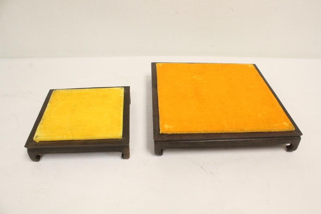 6 zitan wood frame bases - 6