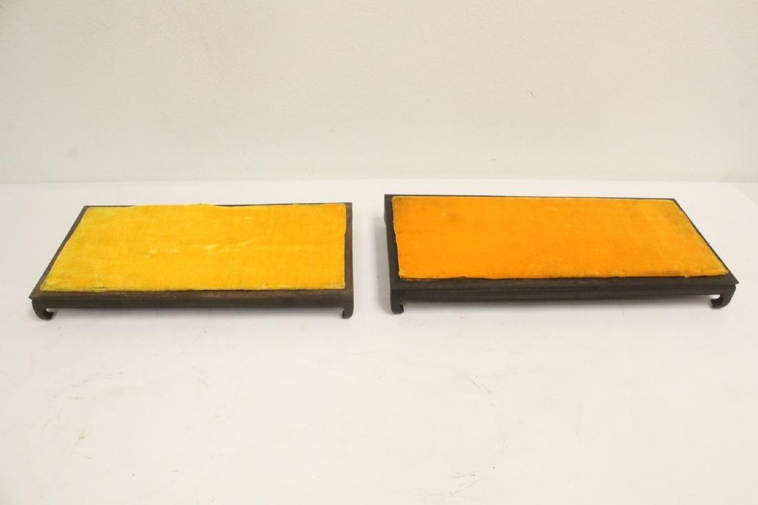 6 zitan wood frame bases - 8