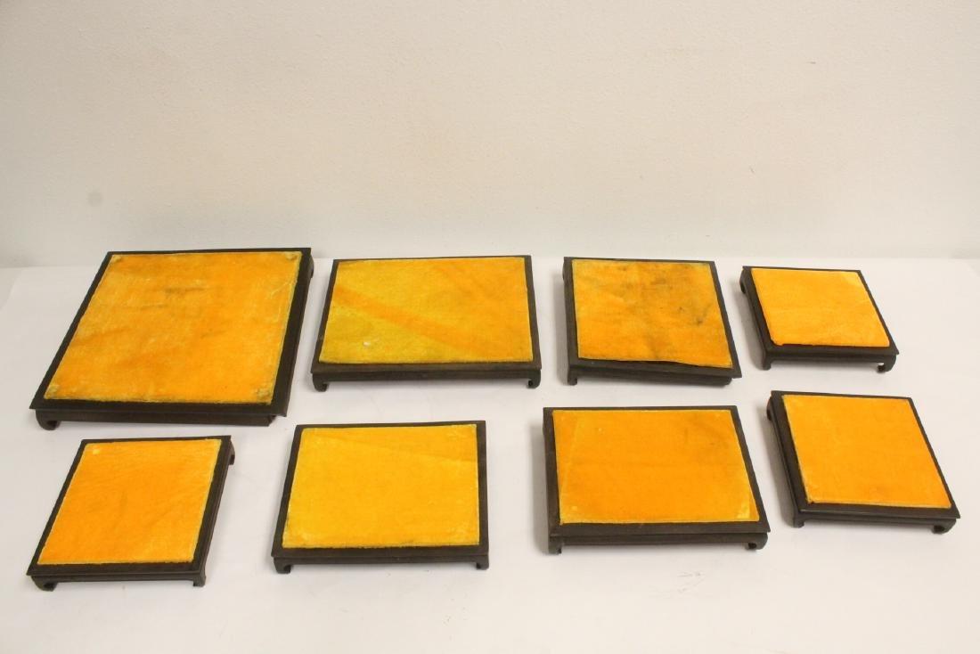 7 zitan wood frame bases