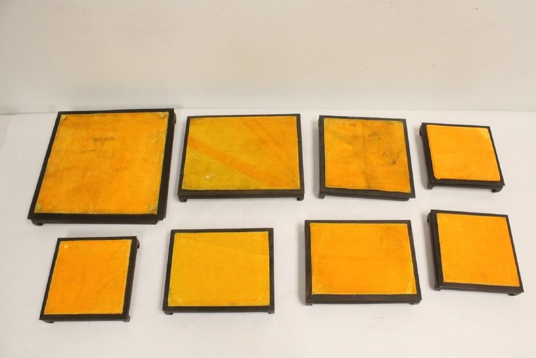 7 zitan wood frame bases - 2