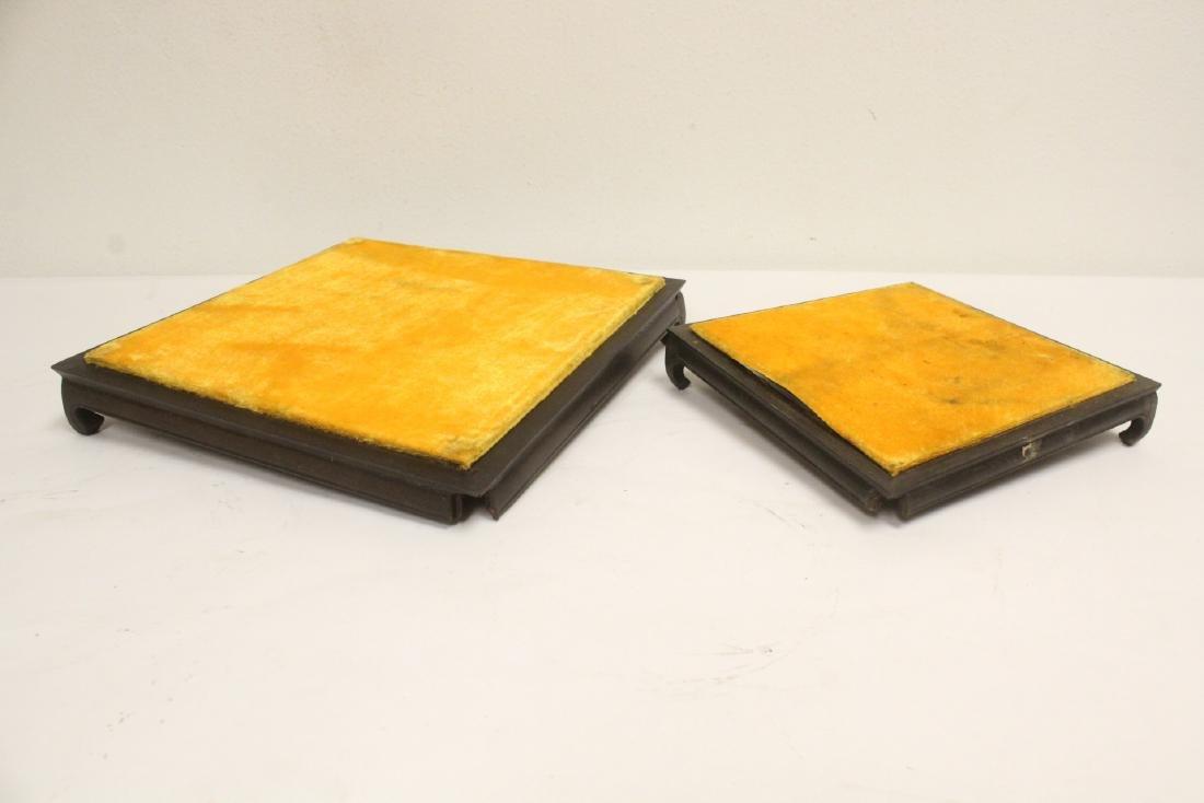 7 zitan wood frame bases - 4