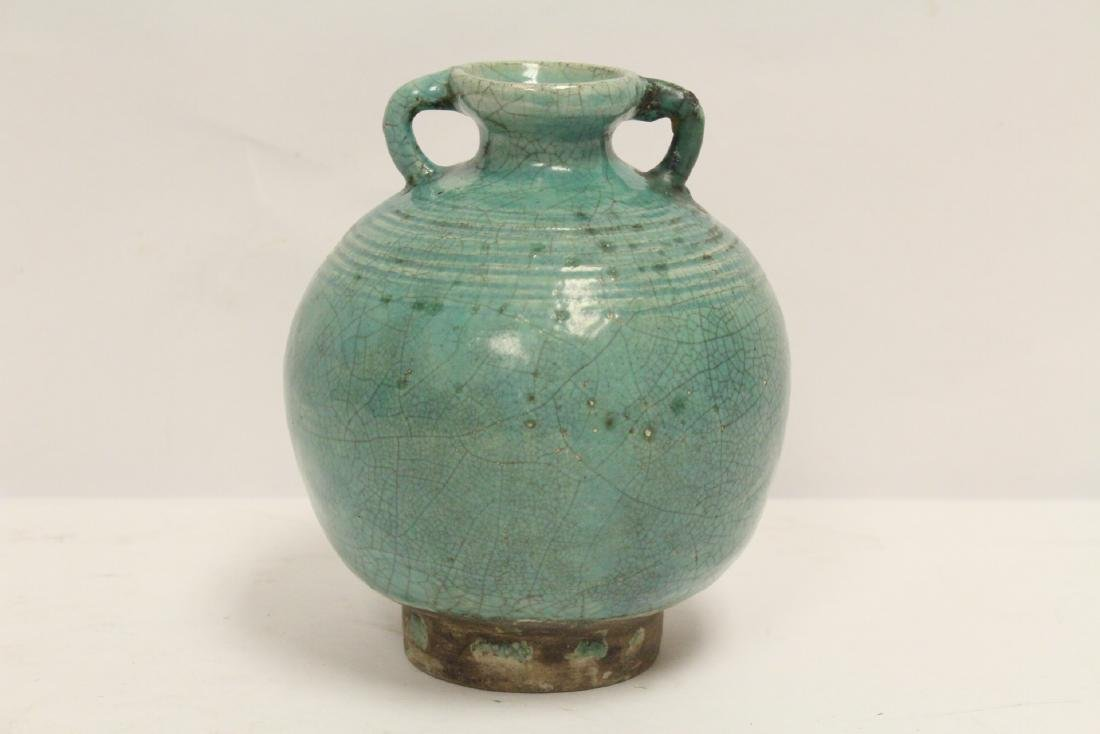 Chinese green glazed jar