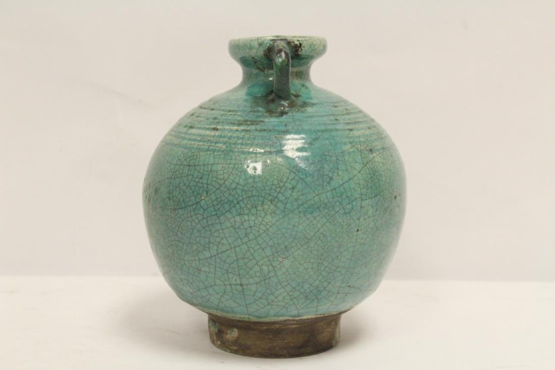 Chinese green glazed jar - 2