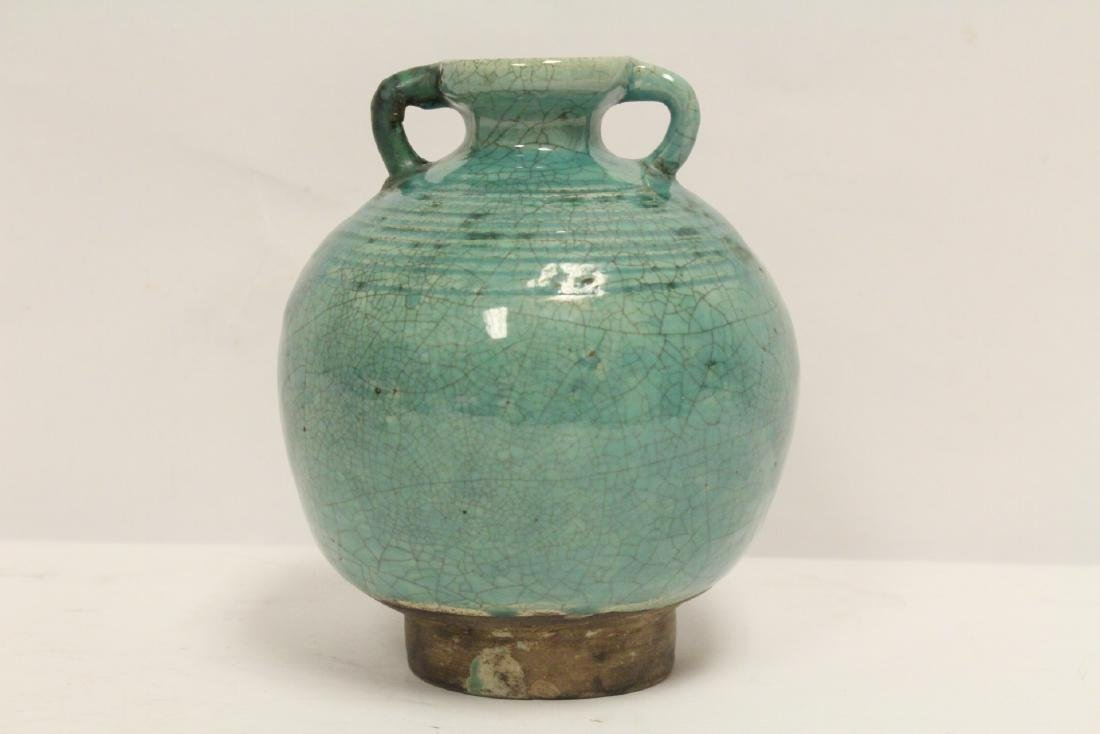 Chinese green glazed jar - 3