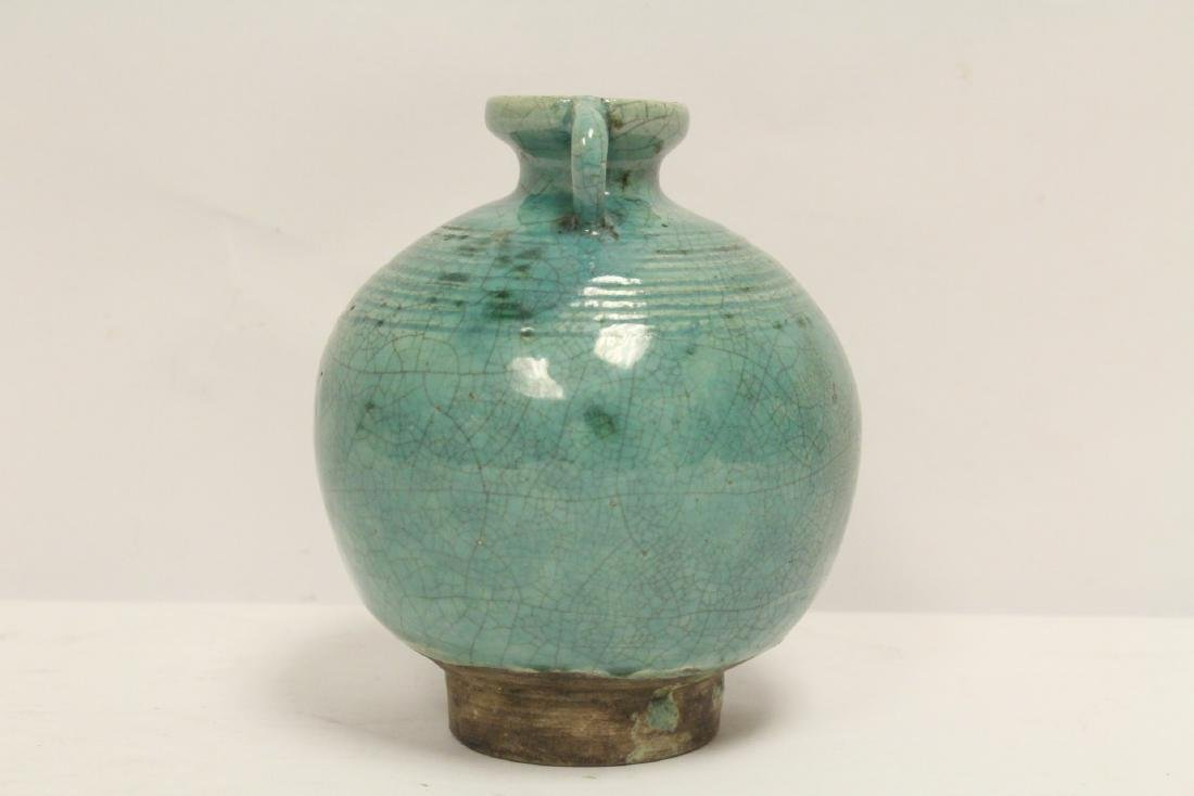 Chinese green glazed jar - 4