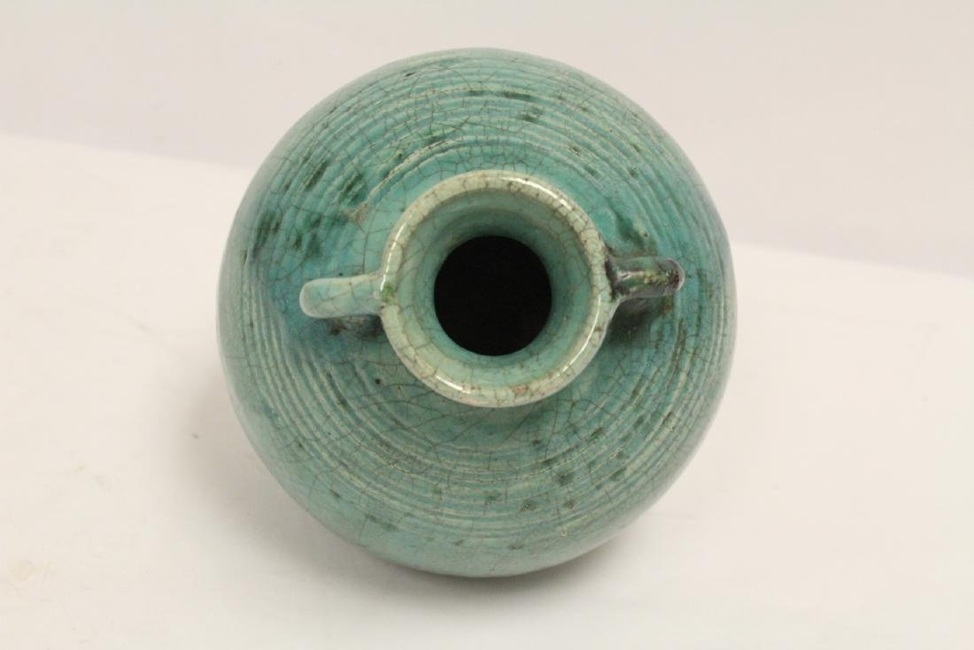 Chinese green glazed jar - 5