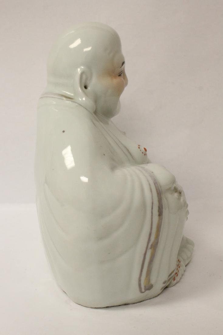 Chinese vintage porcelain sculpture of Buddha - 8