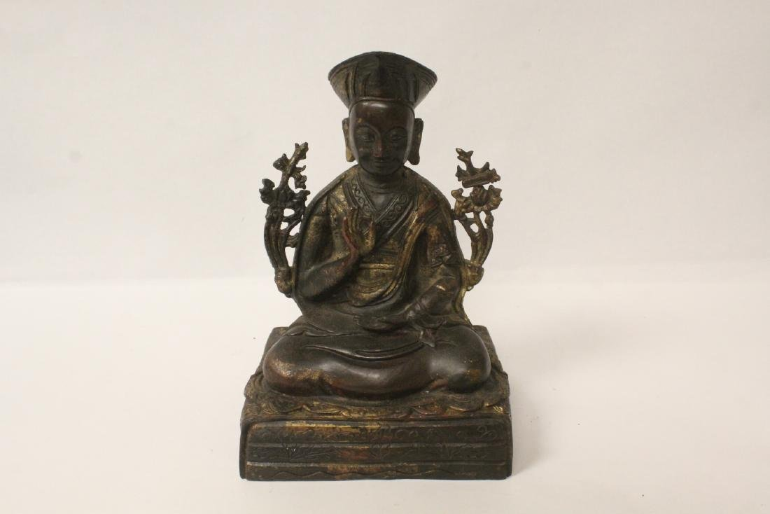 Chinese gilt bronze sculpture of Buddha