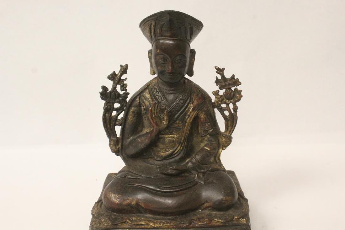 Chinese gilt bronze sculpture of Buddha - 2