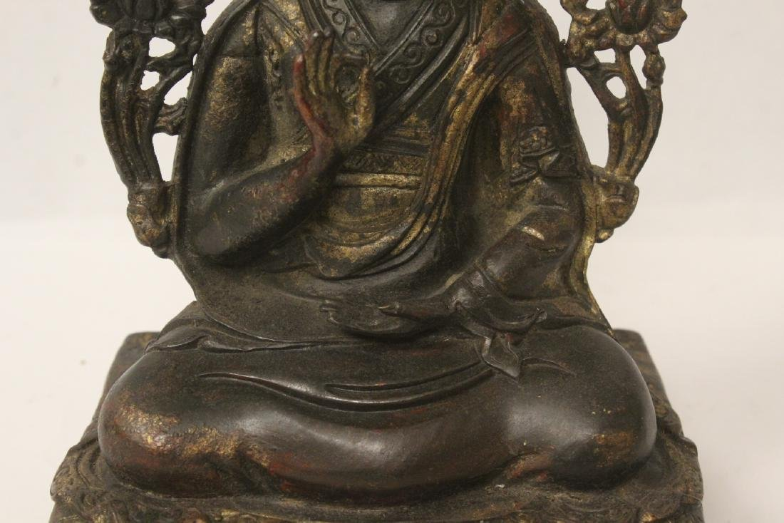 Chinese gilt bronze sculpture of Buddha - 3