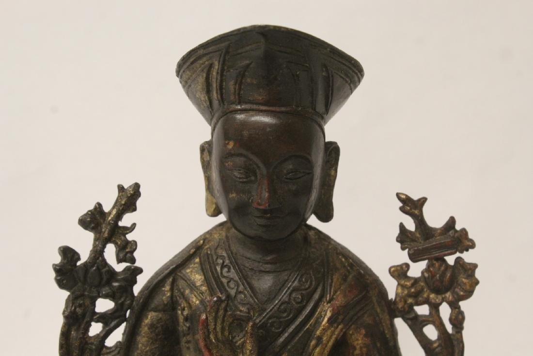 Chinese gilt bronze sculpture of Buddha - 4