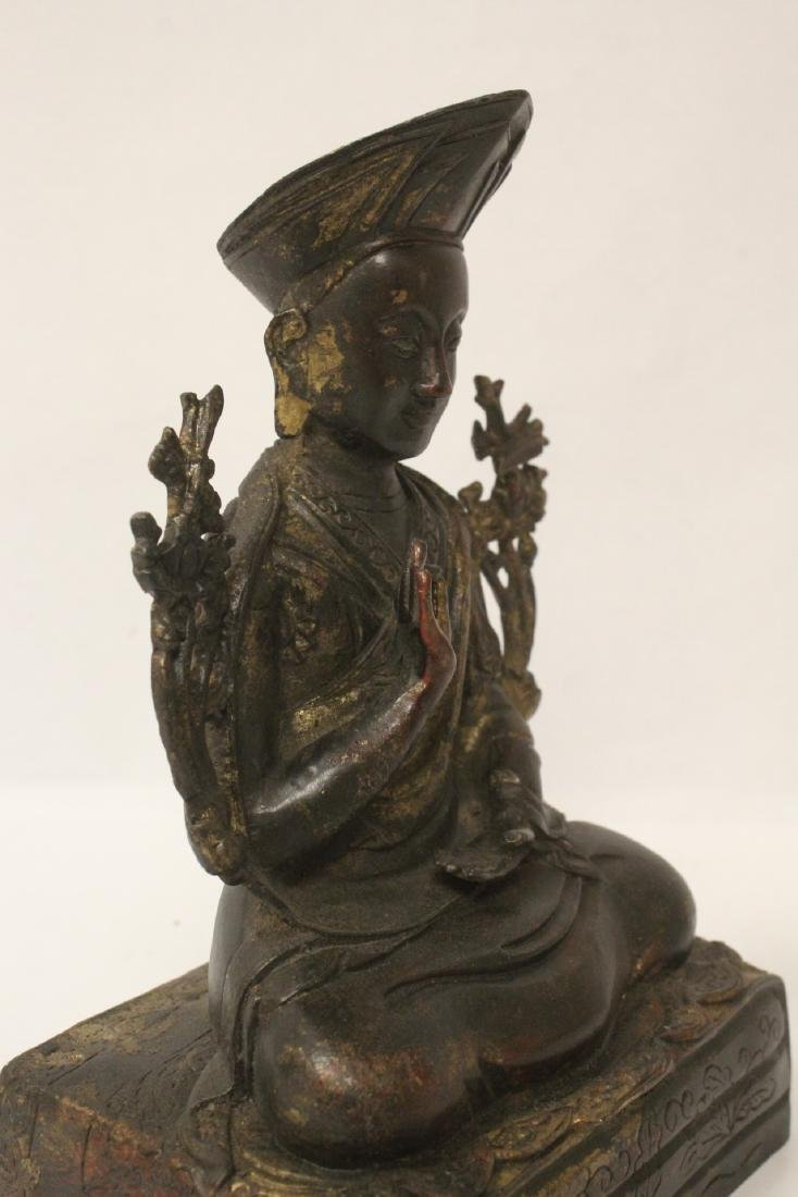 Chinese gilt bronze sculpture of Buddha - 7