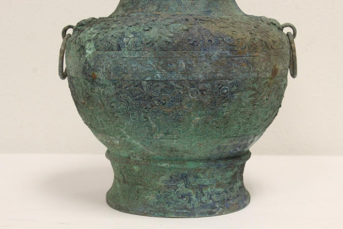 Chinese archaic style bronze covered hu - 8