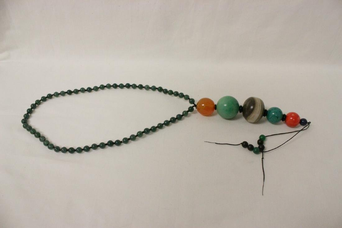 jadeite like bead necklace