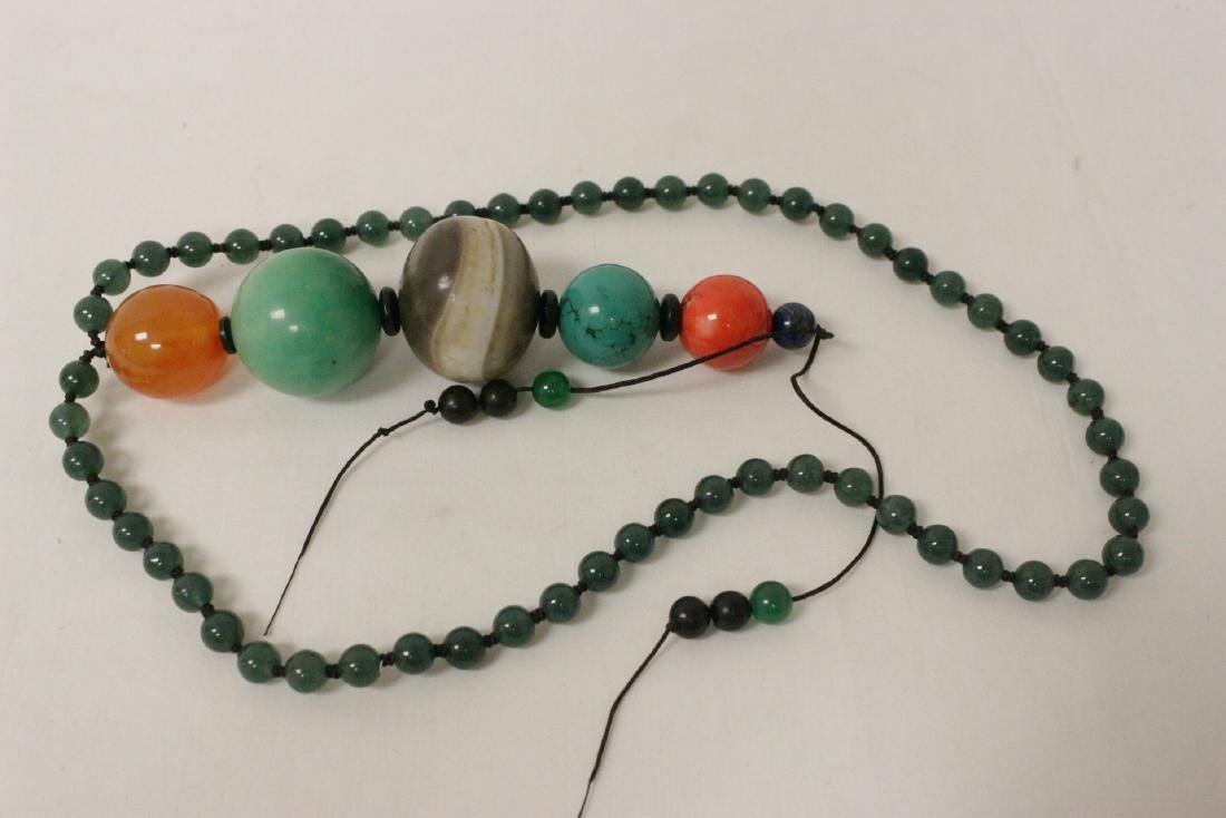 jadeite like bead necklace - 6