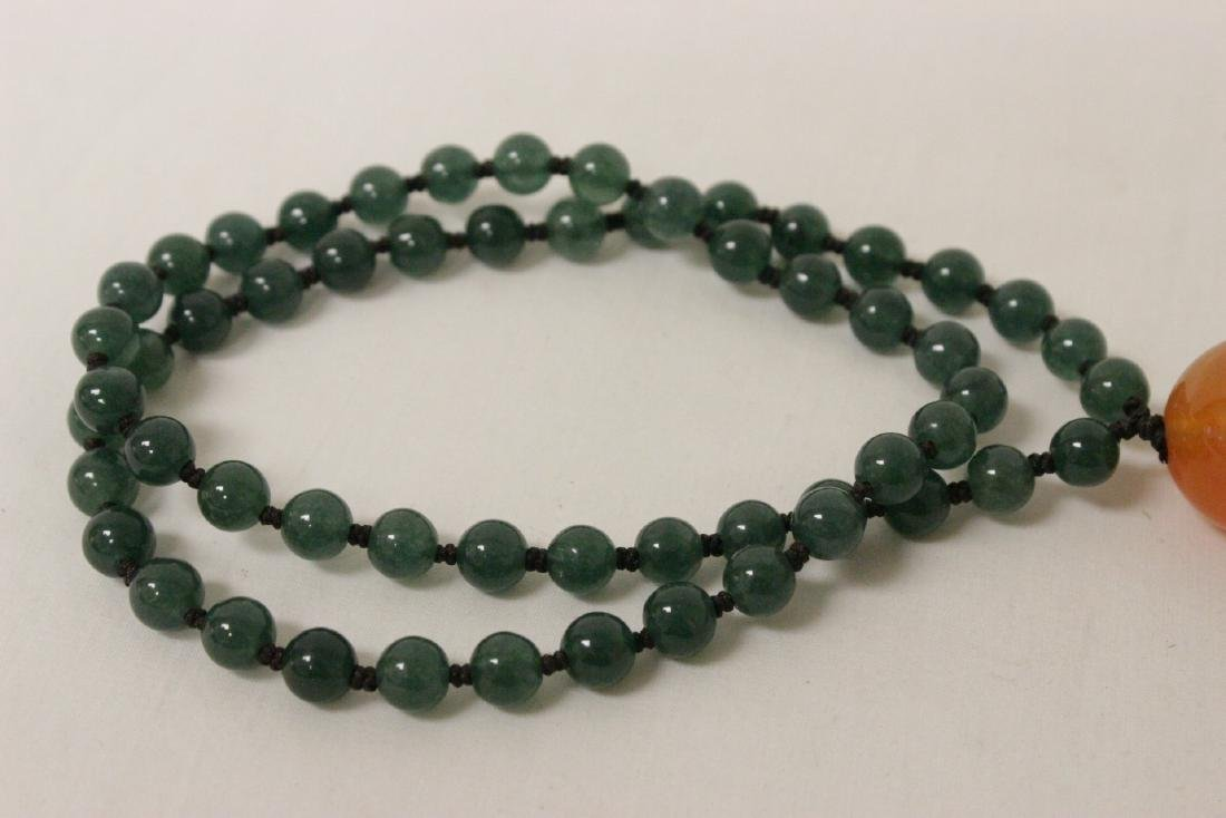 jadeite like bead necklace - 7