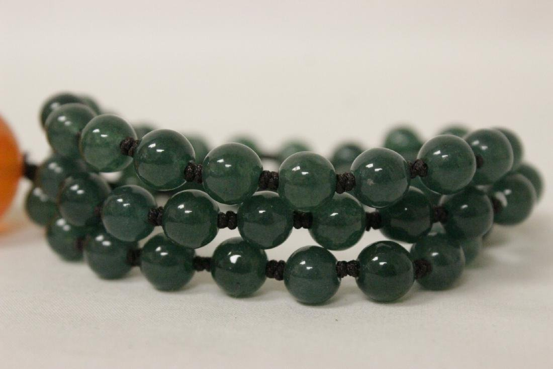 jadeite like bead necklace - 8