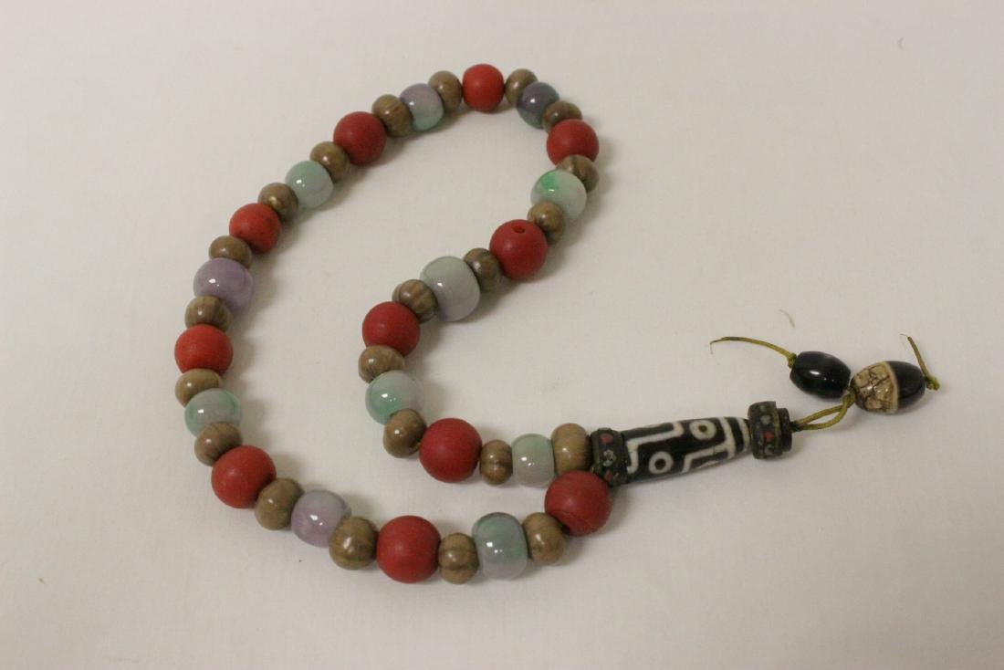 2 various bead necklaces, and 2 bead bracelets - 2