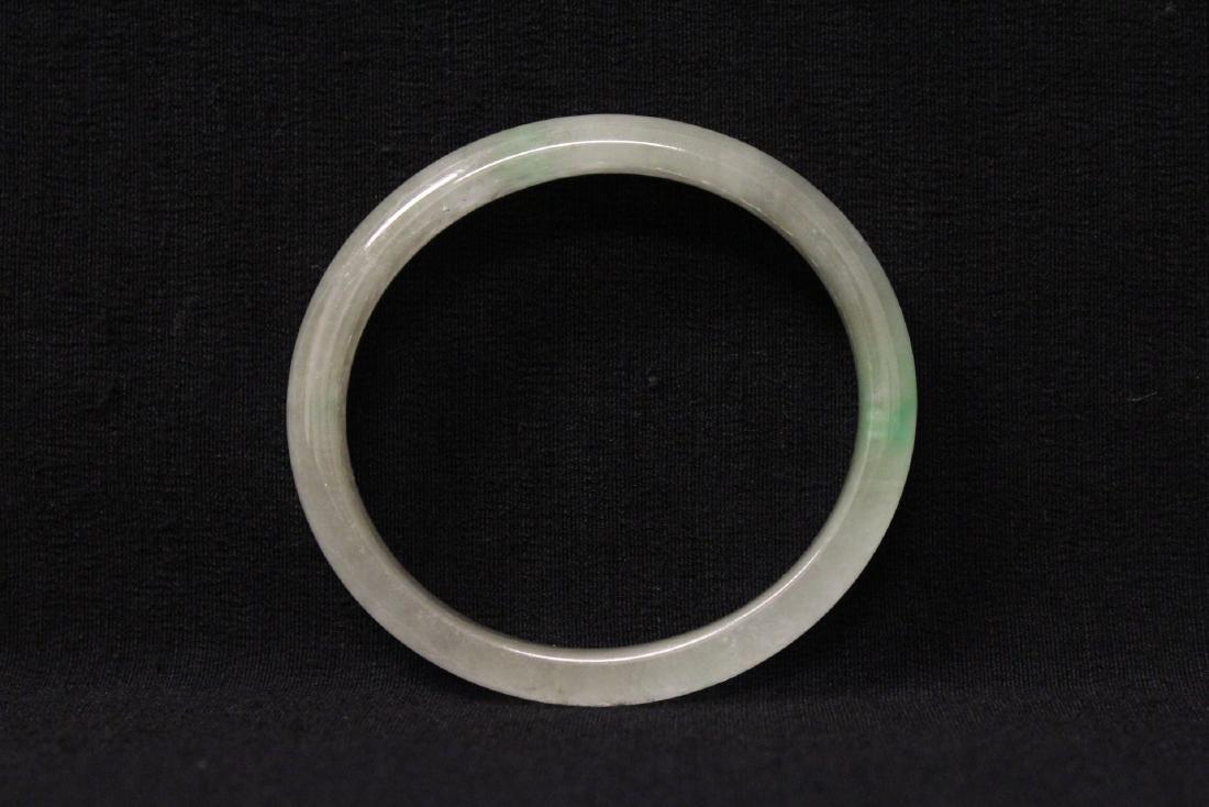 Translucent jadeite like stone bangle bracelet