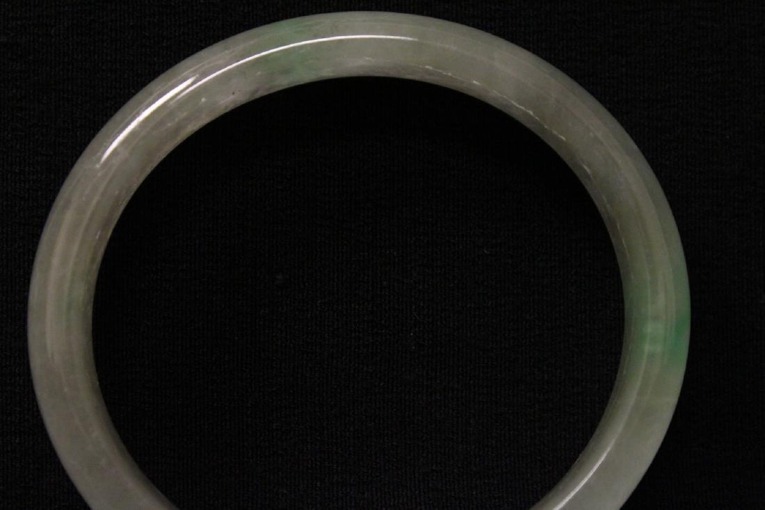Translucent jadeite like stone bangle bracelet - 8