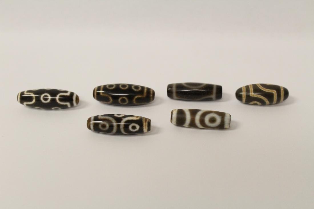 6 dzi beads