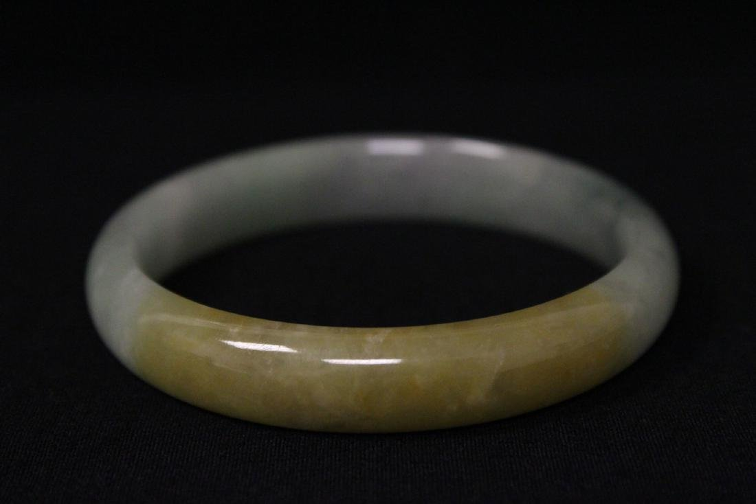 Translucent jadeite bangle bracelet - 4