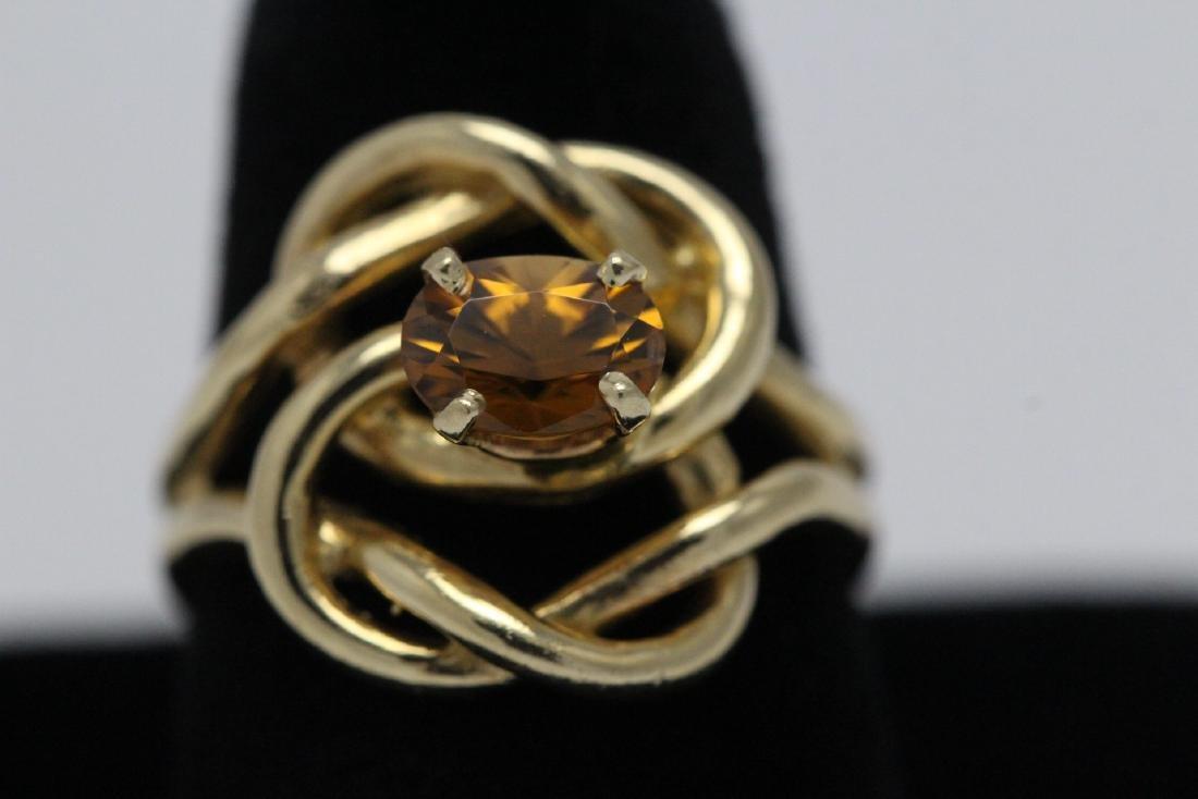 A beautiful twist design 14K rose gold ring - 2
