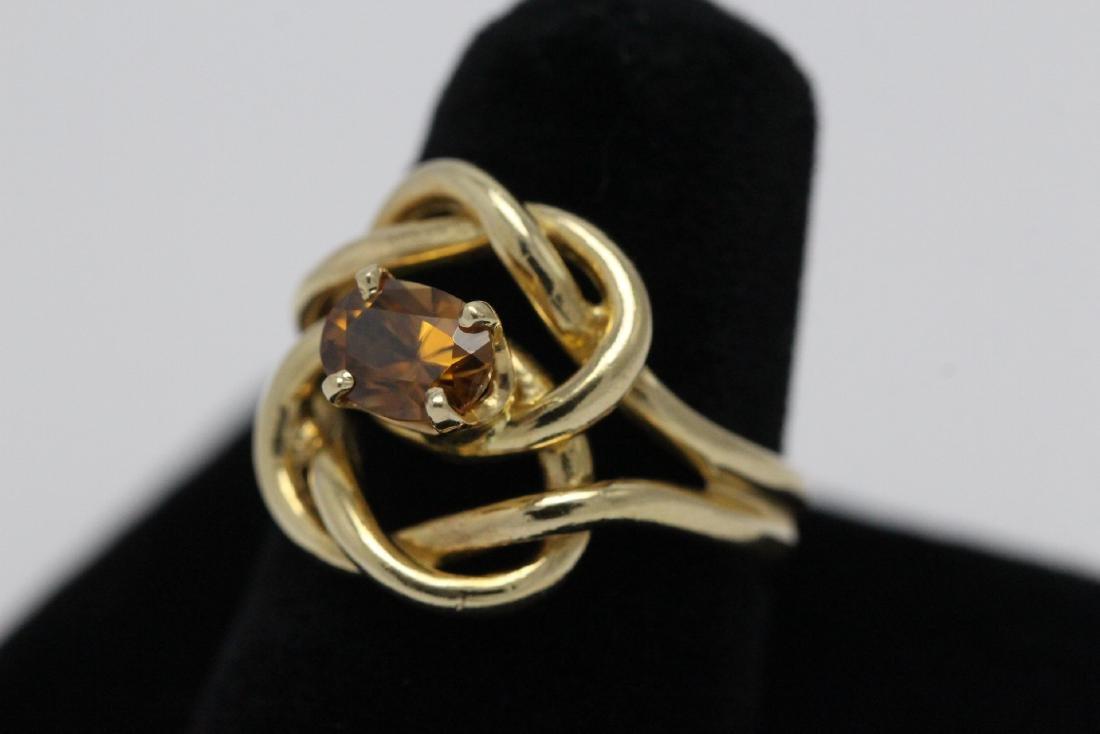 A beautiful twist design 14K rose gold ring - 3