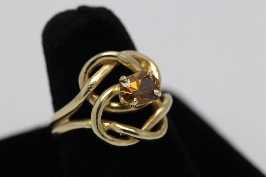 A beautiful twist design 14K rose gold ring - 4