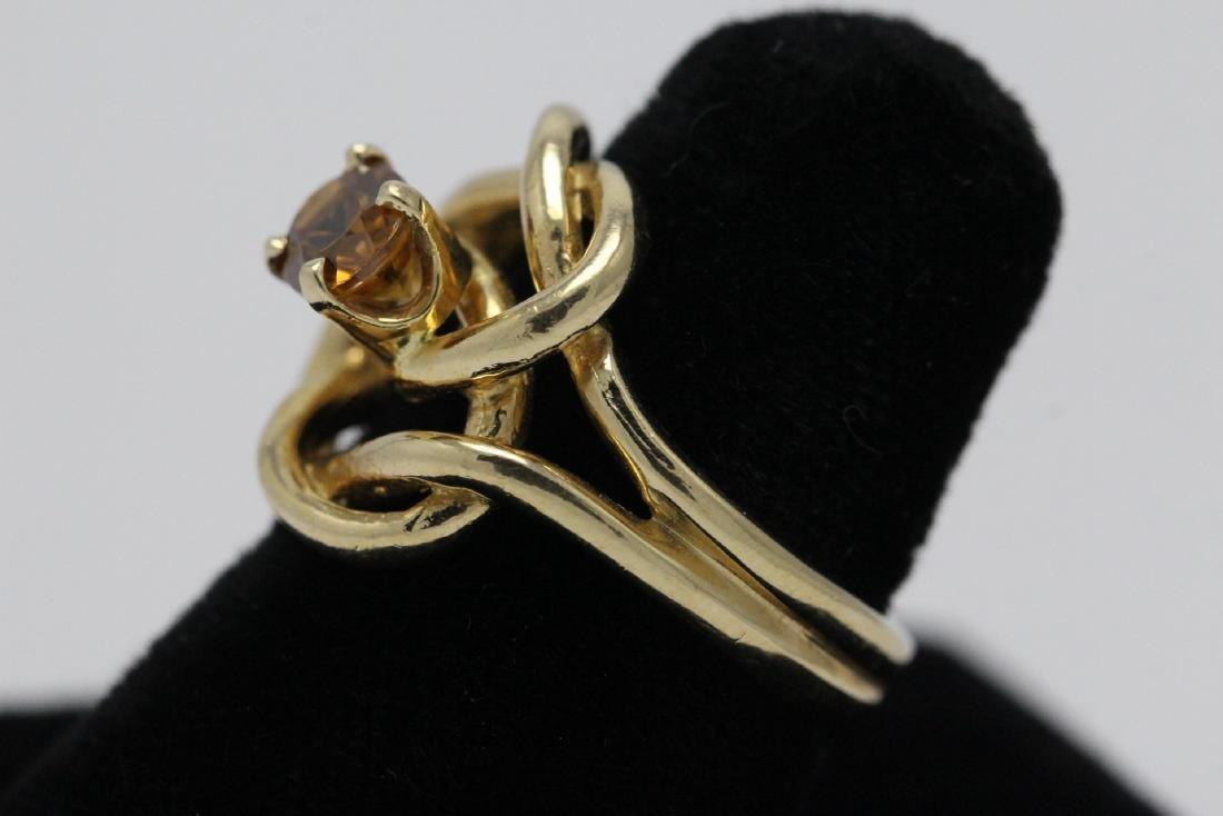 A beautiful twist design 14K rose gold ring - 5