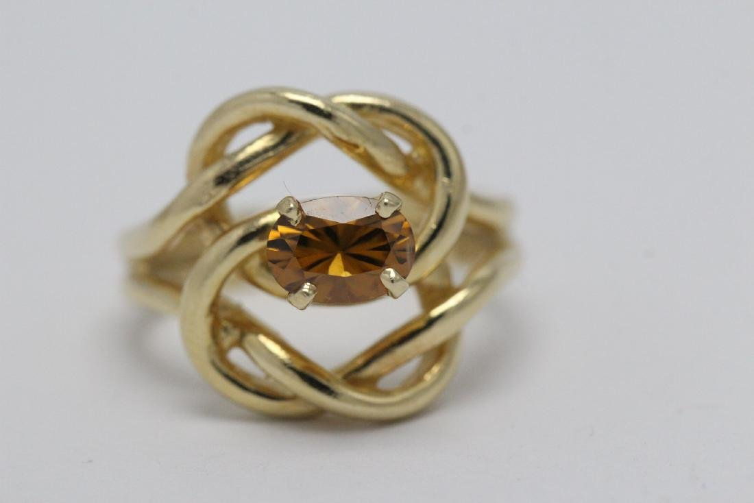 A beautiful twist design 14K rose gold ring - 6