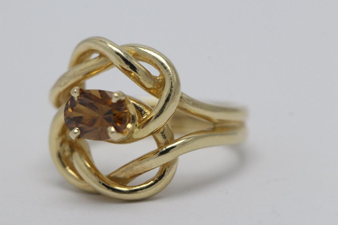 A beautiful twist design 14K rose gold ring - 7