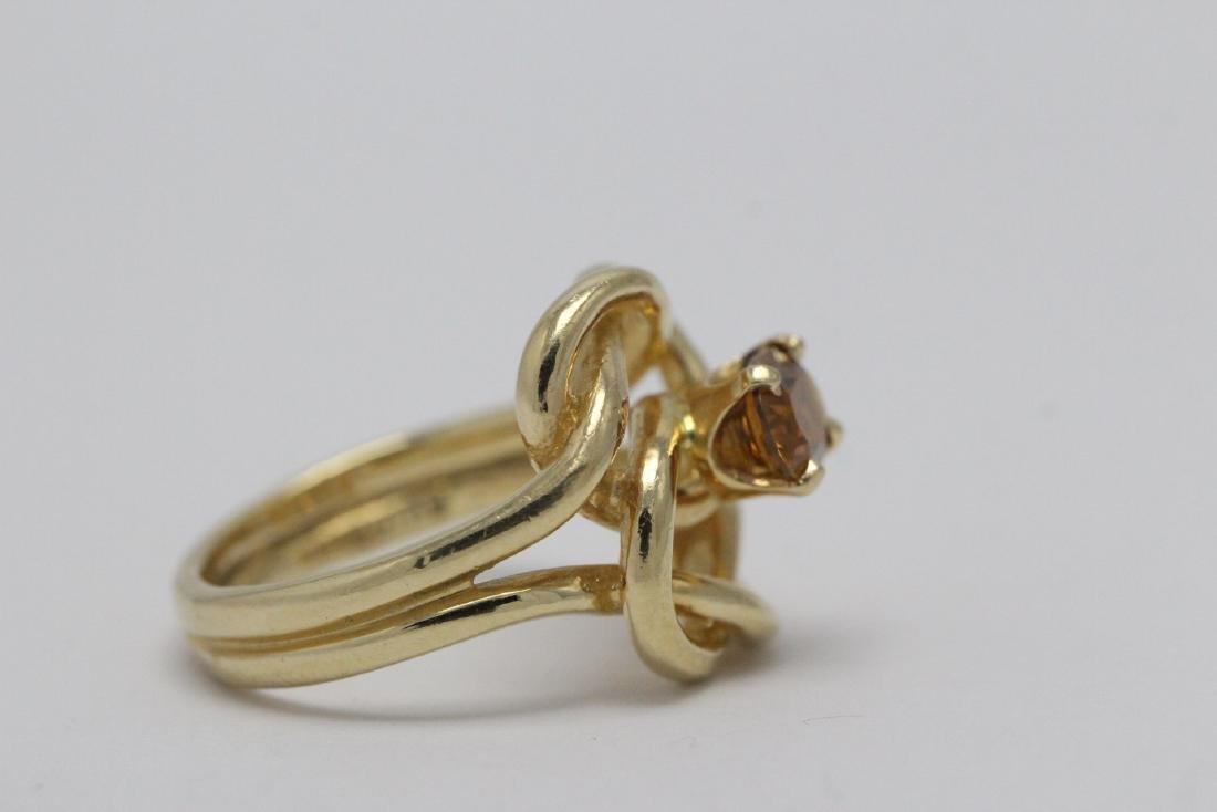 A beautiful twist design 14K rose gold ring - 8