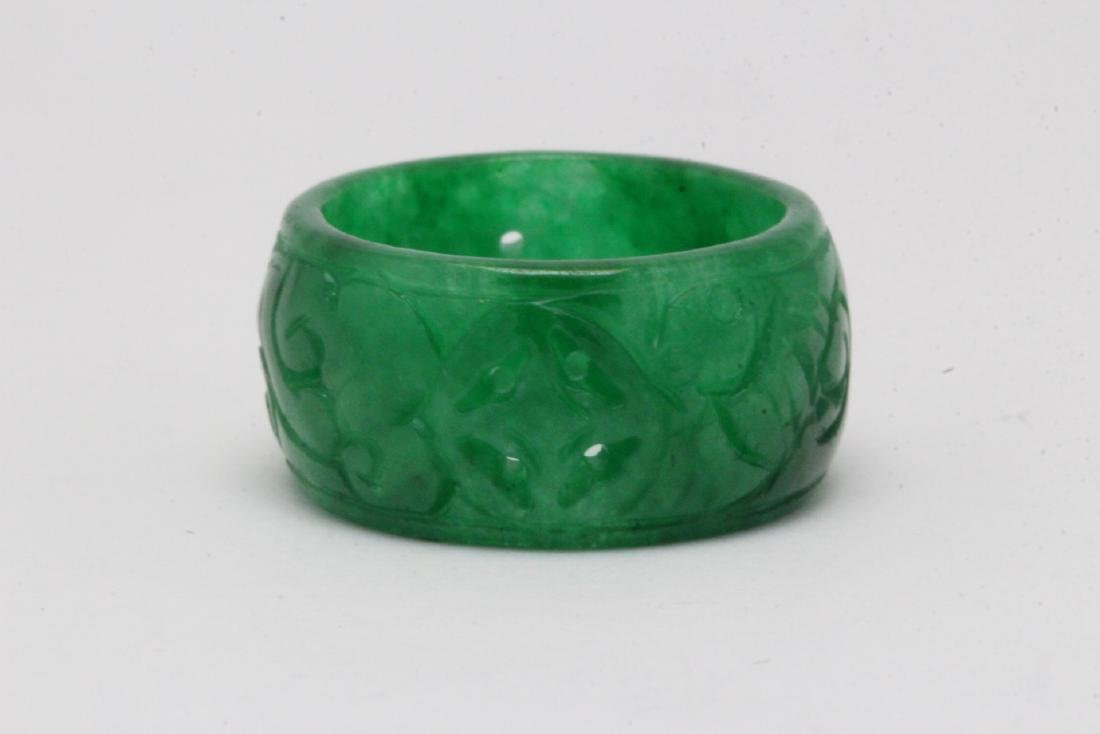 Jadeite bangle ring