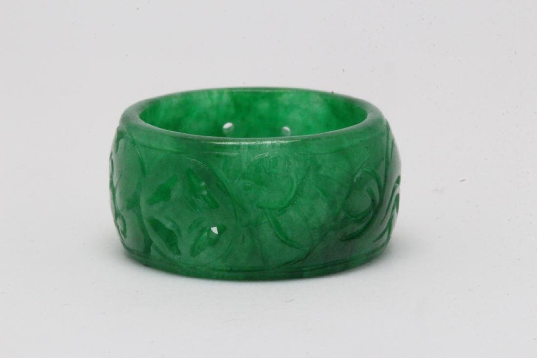 Jadeite bangle ring - 2