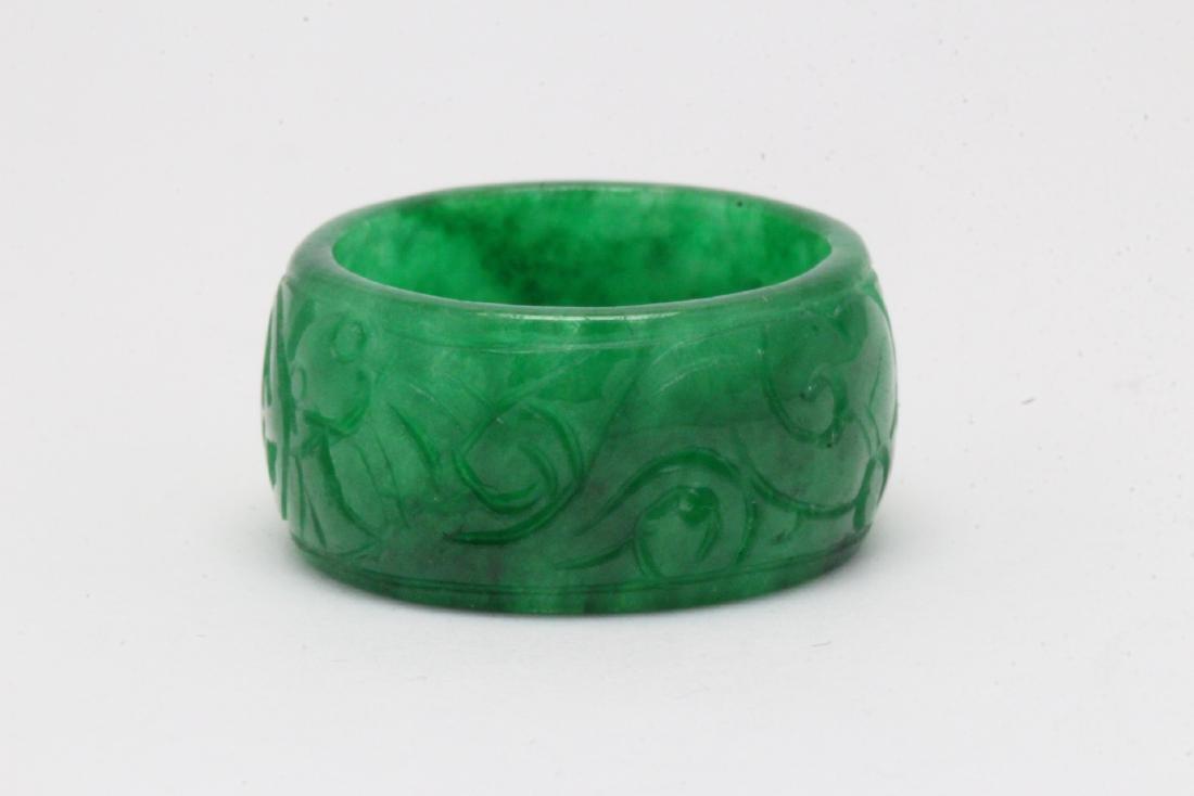 Jadeite bangle ring - 3