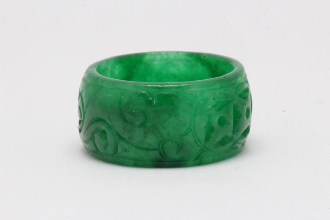 Jadeite bangle ring - 4