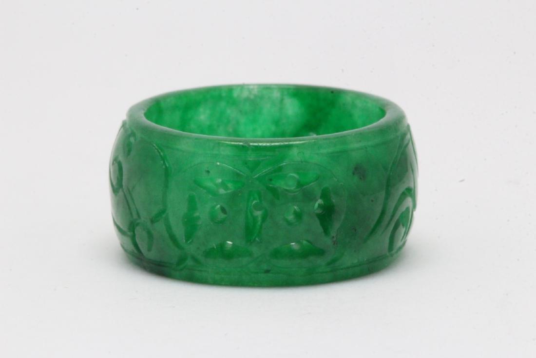 Jadeite bangle ring - 5