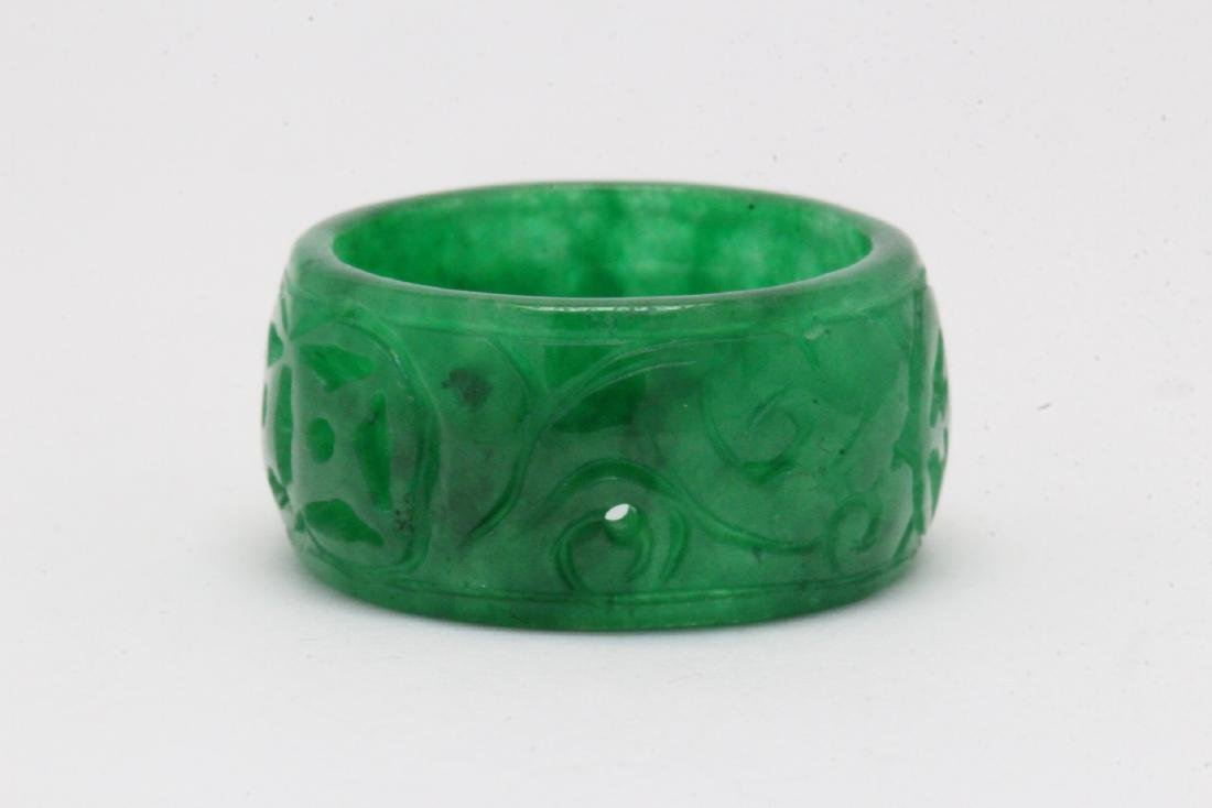 Jadeite bangle ring - 6