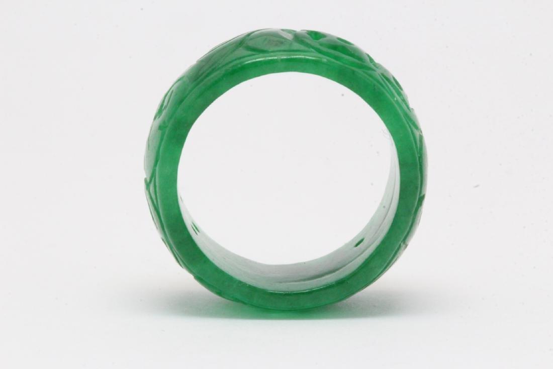 Jadeite bangle ring - 7