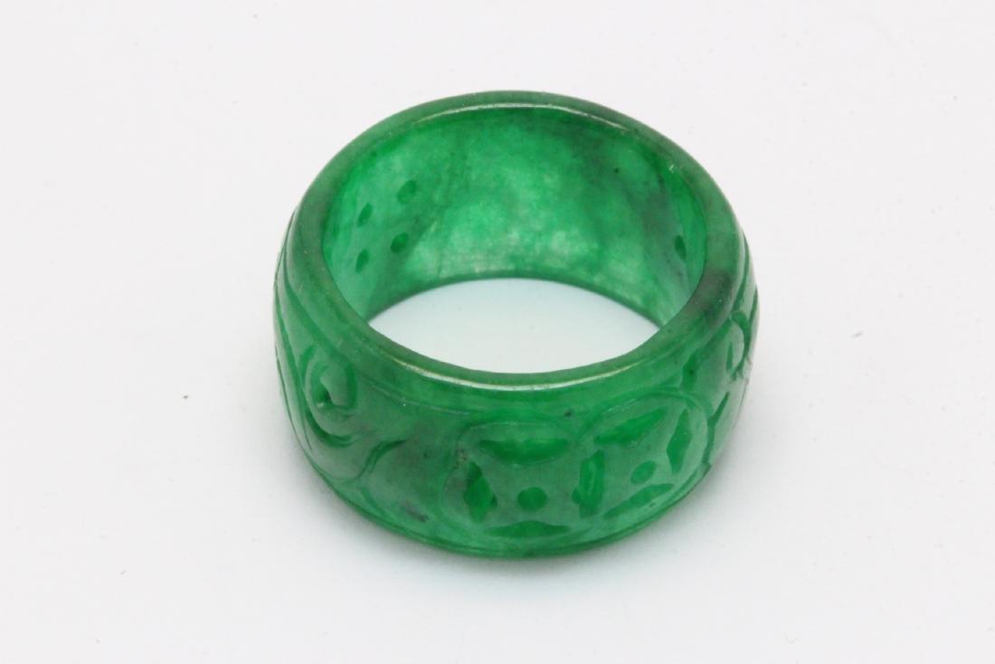 Jadeite bangle ring - 8