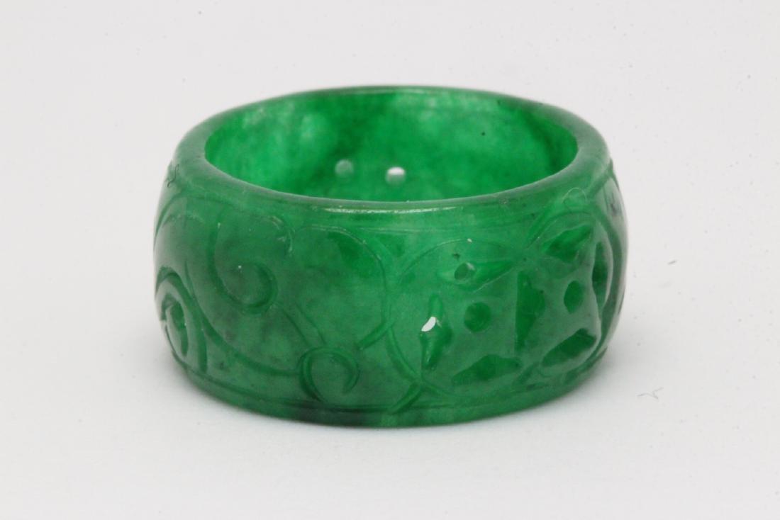 Jadeite bangle ring - 9