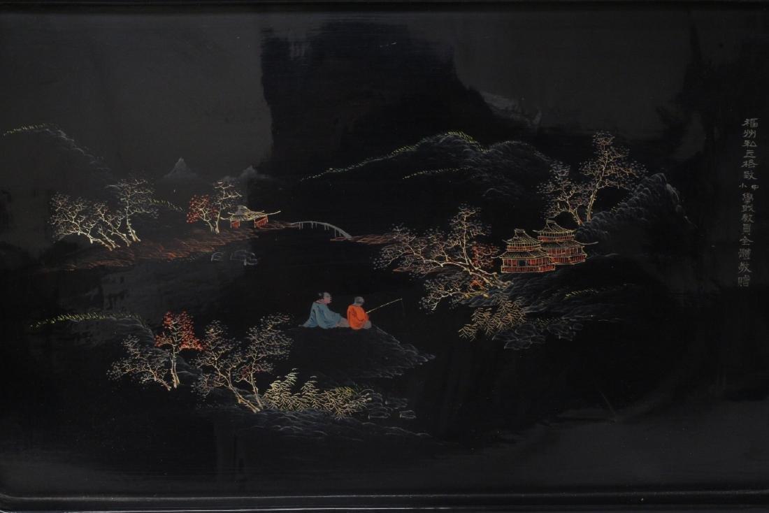 2 Chinese Fuzhou lacquer trays - 7