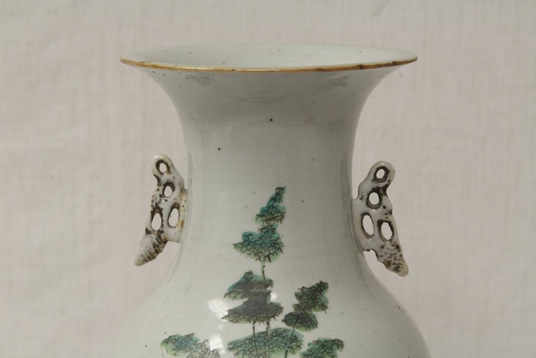 Chinese antique famille rose porcelain vase - 3