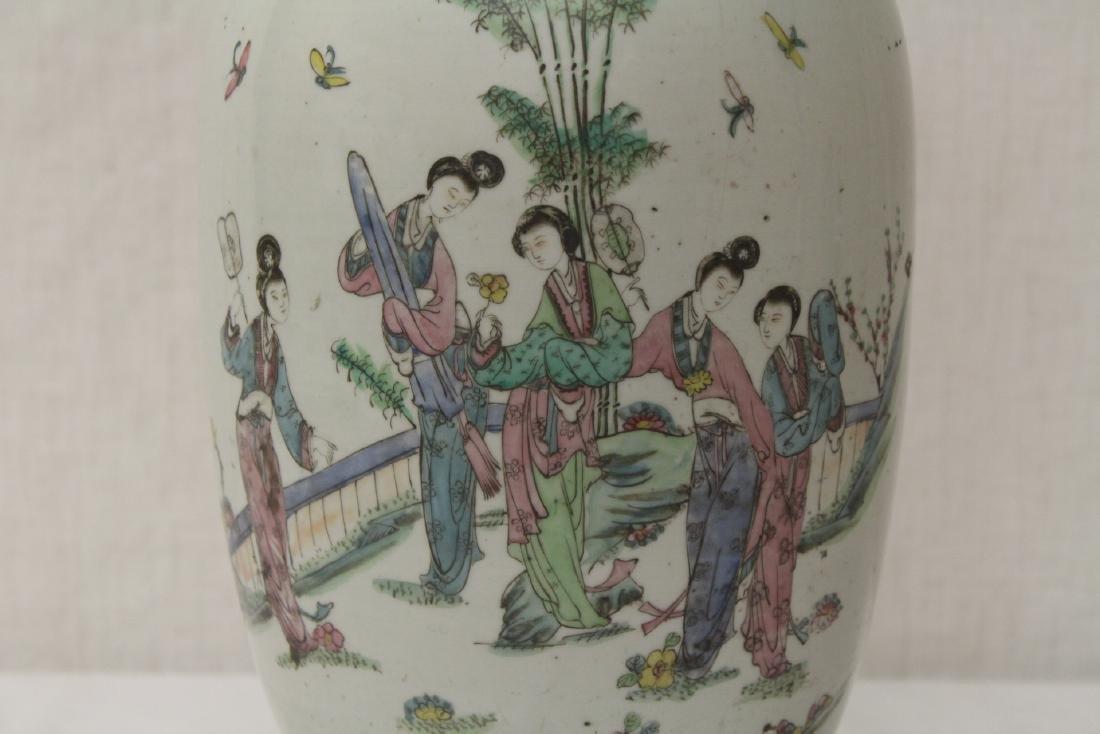 Chinese antique famille rose porcelain vase - 4