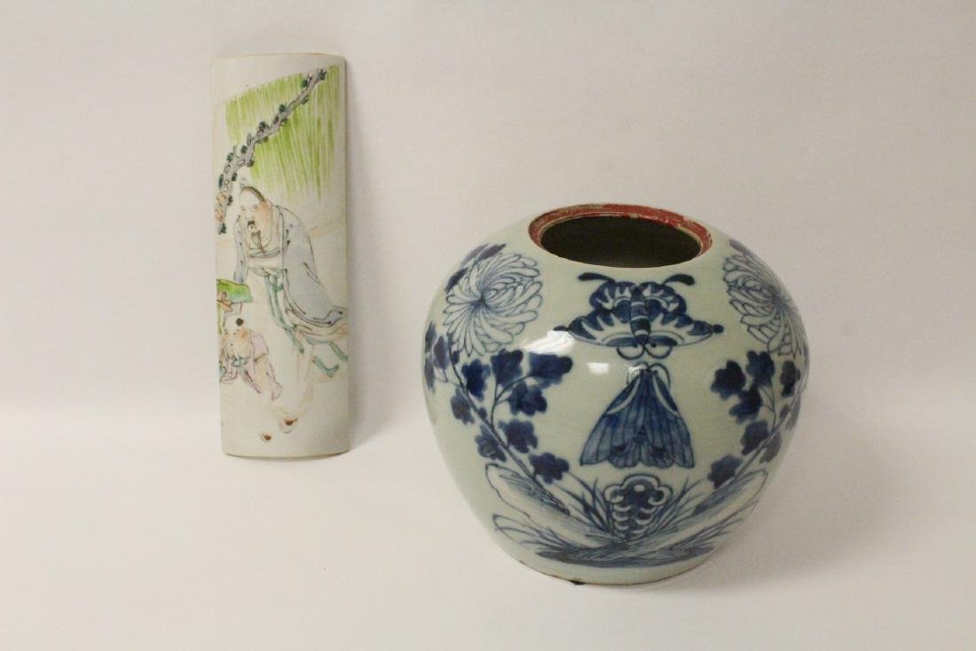 2 Chinese antique porcelain items