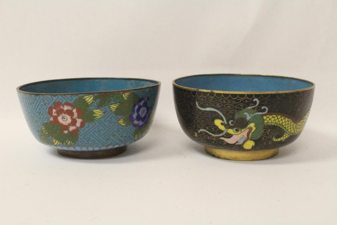 6 pieces Chinese vintage cloisonne - 5